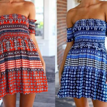 CUTE ONE WORD PRINT DRESS
