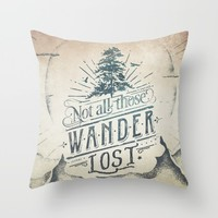 Im a wanderer Throw Pillow by HappyMelvin | Society6