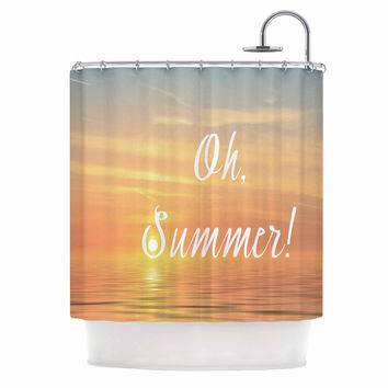 "Alison Coxon ""Oh, Summer!"" Blue Coastal Shower Curtain"
