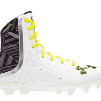 Under Armour Wmns Highlight Lacrosse Cleats 2016 - White/Yellow | Lacrosse Unlimited