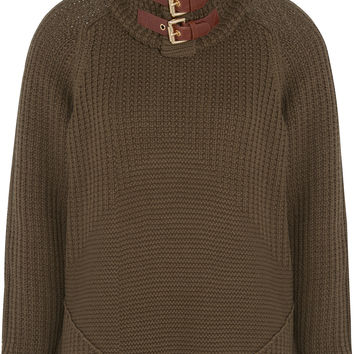 MICHAEL Michael Kors - Buckled cotton-blend sweater