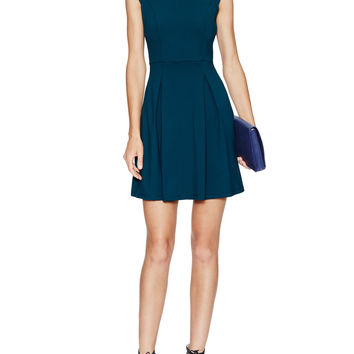 Susana Monaco Women's Mock Flare Dress - Green -