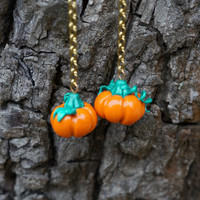 FREE SHIPPING Pumpkins Earrings. The best for Halloween. Polymer clay jewelry.