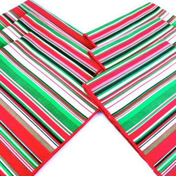 Christmas Napkins Candy Striped Linens