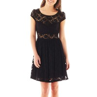 jcpenney - Bailey Blue Cap-Sleeve Lace Dress - jcpenney