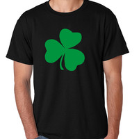 Men's T Shirt Green Shamrock Graphic St Patrick's Day Tee