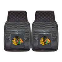 Chicago Blackhawks NHL Heavy Duty 2-Piece Vinyl Car Mats (18x27)