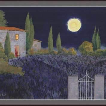 Lavanda di notte CROSS STITCH PATTERN 710