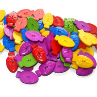 Plastic Colorful Christmas Lights Buttons, Holiday Buttons, Christmas Buttons