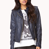 Forever Cool Faux Leather Jacket