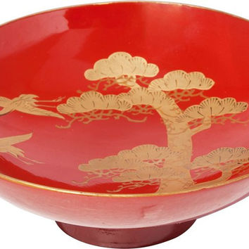 FINE JAPANESE LACQUERED SWEETS BOWL