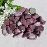 10 Strawberry Quartz Crystal Tumblestones