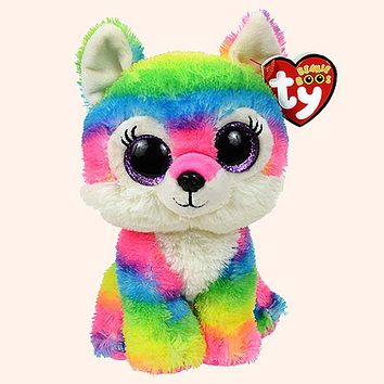 "Pyoopeo Ty Beanie Boos 6"" 15cm River the Wolf Plush Regular Stuffed Collectible Soft Plush Doll Toy"
