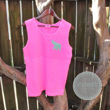Glitter Elephant Comfort Colors Tank Top
