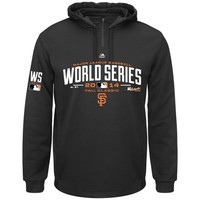 San Francisco Giants Majestic 2014 MLB World Series Bound On-Field Participant Hoodie - Black