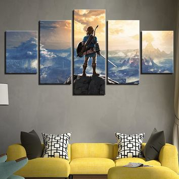 Legend of Zelda Five Piece Canvas Wall Art Panel