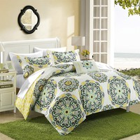 Alaya Boho Reversible 7pc Comforter + Sheets Bedding Set