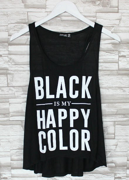 black is my happy color tank from. Black Bedroom Furniture Sets. Home Design Ideas