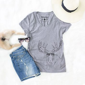 Monty the Moose - Women's Relaxed Fit V-neck Shirt