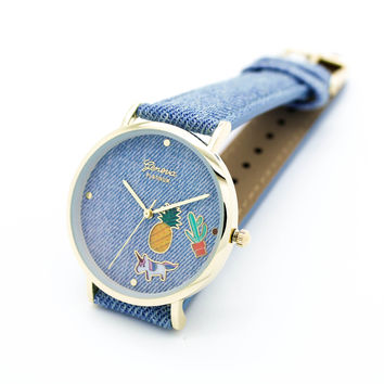 Denim emoji watch