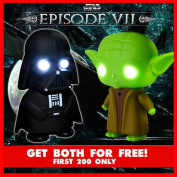 ★FREE★ Promotional Item for Today JEDI PROMO: 2015 YODA AND DARTH LED LAMP KEYCHAIN (FREE You Pay  S&H)