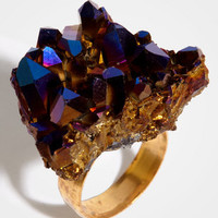 Crystal Cave Rock Ring | Purple Blue Crystal Ring | fredflare.com