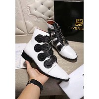 GIVENCHY Autumn Winter Popular Women Leather Shoes Boots White