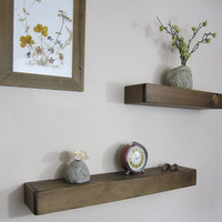Floating Shelf - Rustic Wood Shelf, Wooden Wall Shelf, Rustic Floating Shelves