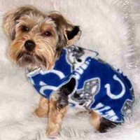 Indianapolis COLTS football Dog Snuggly XS or SM | valygalsdoggieduds - Pets on ArtFire