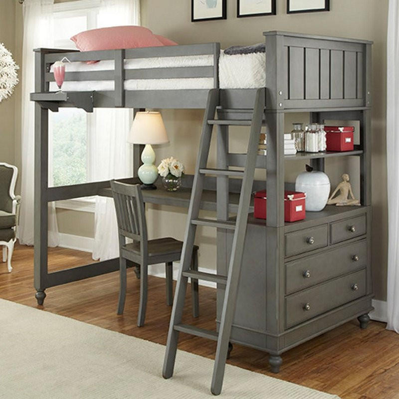 Twin Over Full Bunk Bed Loft With Chest Amp From Hearts