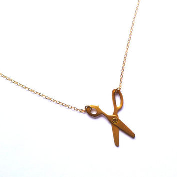 scissor necklace, papercut