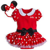 Minnie Mouse Costume Bodysuit for Baby - Red - Personalizable   Disney Store