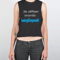 In Other Words-Female Black Tank