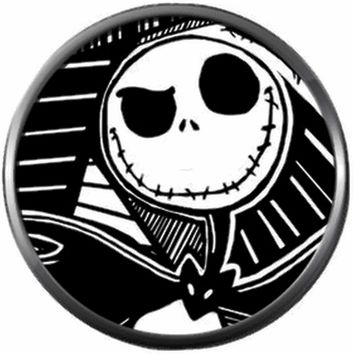 Smirk Smile Spooky Jack Halloween Town Nightmare Before Christmas Jack Skellington 18MM - 20MM Charm for Snap Jewelry New Item