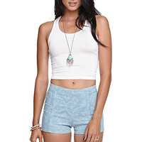 Bullhead Denim Co Jacquard High Rise Tap Shorts at PacSun.com