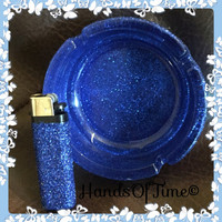 Glittered ashtray