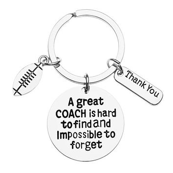 Football Great Coach is Hard to Find Keychain