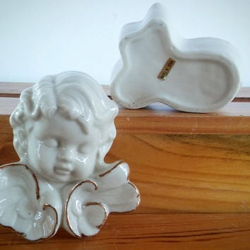 China Angel Trinket Box, Porcelain Angel Trinket Box