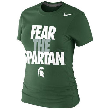 Michigan State Spartans Nike Women's Local Slim Fit T-Shirt – Green