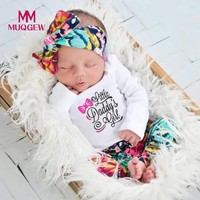 Fashion Newborn Infant Baby Girl Boy Letter Print Tops+Pants Outfits Clothes Set New Fashion Autumn Winter Baby Clothing Sets