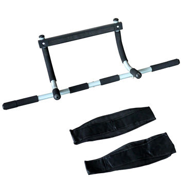 ActionLine KY-72020 Doorway Gym, Upper Body Workout Bar include AB Straps