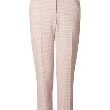Pink Jacquard Trouser - Miss Selfridge