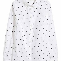 Cotton shirt - White/Spotted - Ladies | H&M GB