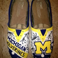 University of Michigan Hand Painted Toms