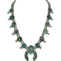 1920s Zuni Squash Blossom Necklace