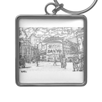 Piccadilly Circus London UK Keychain