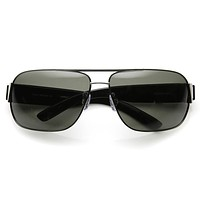 Mens Premium Polarized Lens Large Square Aviator Sunglasses 9269