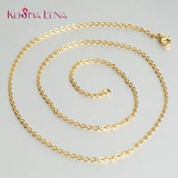 Keisha Lena gold-color 1mm 2mm Stainless Steel Chains Necklace Fit For Men/Women Jewelry Necklace Gold Chain Bulk