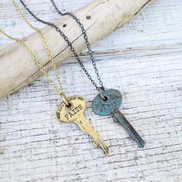 Inspiration Key Necklace- Faith