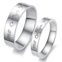 Fashion Jewelry New style An arrow through heart Titanium steel couple rings -one for women only: Fashion Jewelry New style An arrow through heart Titanium steel couple rings -one for women only-Size 5